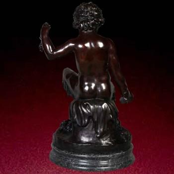 Large bronze statue bacchus 19th century