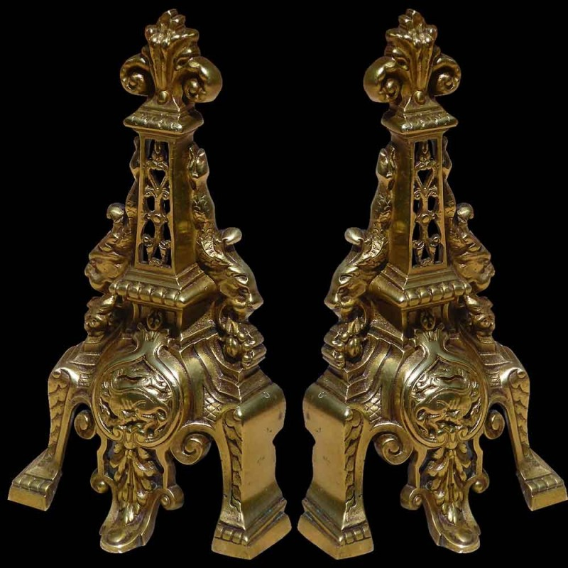 Par de morirones de bronce del siglo XVIII