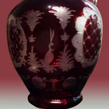 Brocca in cristallo di Boemia del XIX secolo