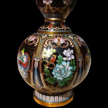 Chinese vase cloisonne enamels ovoid
