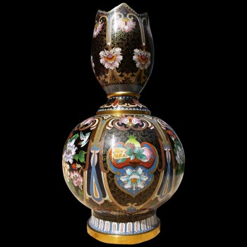 Chinesische Vase Cloisonné Emaille