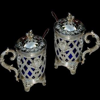 Senf in Silber XIX Jahrhundert