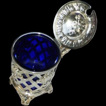 Mustardiers in sterling silver XIX century