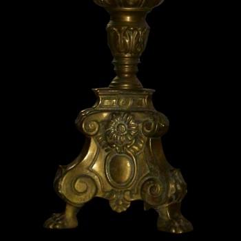 Paar kandelaar verguld brons negentiende eeuw