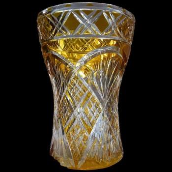 Vaso in cristallo Val Saint Lambert Art Deco