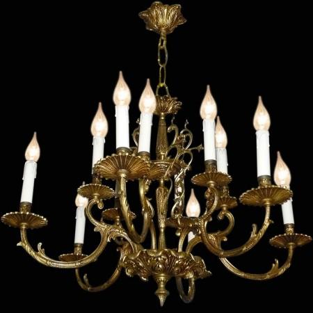 Louis XV Stil Bronze Kronleuchter