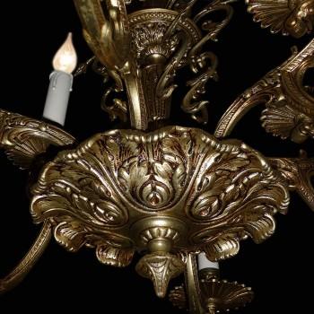 Lampara de bronce estilo Luis XV