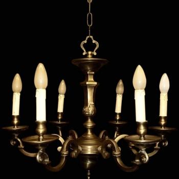 Lampadario in bronzo XIX secolo