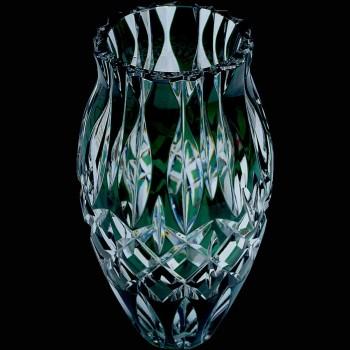 Hermoso vaso de cristal Val Saint Lambert Belgium Sign