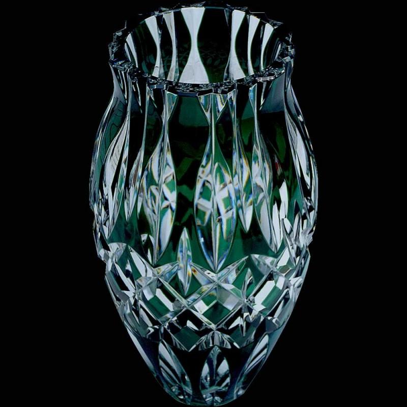 Beautiful Crystal Vase Val Saint Lambert Belgium Sign