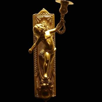 Due appliques di bronzo dorato 19  secolo