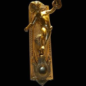 Par de apliques de bronce dorado siglo 19