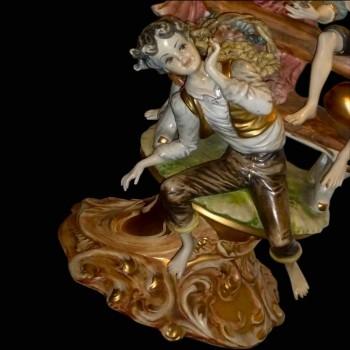 Grupo de porcelana italiana Capodimonte pastoral