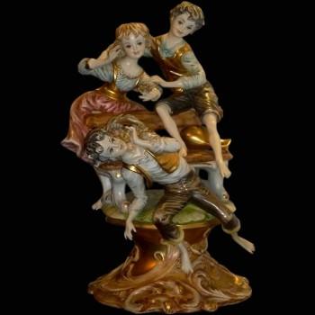 Group of Italian porcelain Capodimonte pastoral