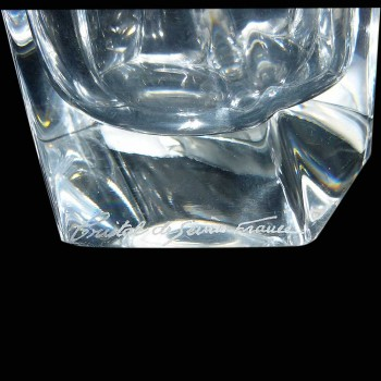 crystal vase of sevres sign blowing mouth