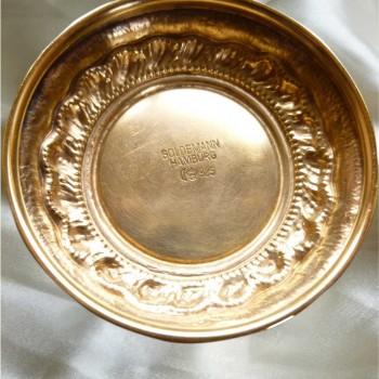Vermeil Pauke aus dem 19. Jahrhundert mit Abzeichen