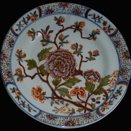 Piatto Delftware del 18  secolo 1710