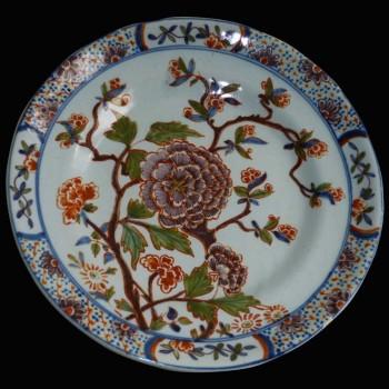 Delfts aardewerk bord 18e eeuw 1710