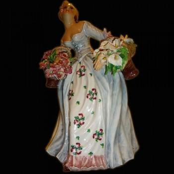 Figurine en porcelaine italienne signee Carlo Mollica