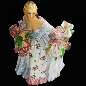 Italian porcelain figurine Sign Carlo Mollica