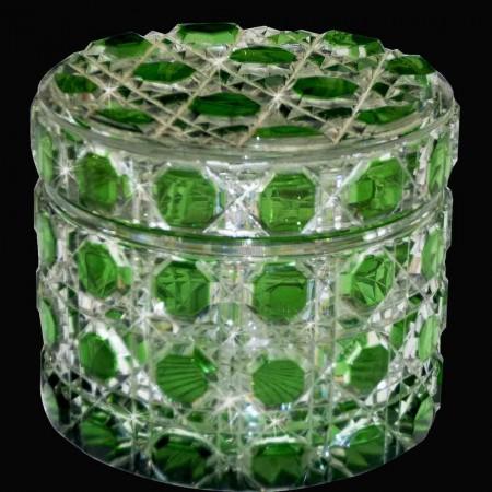 Boite à poudre Cristal Baccarat XIXeme siecle