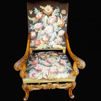 Chair style Regency 19 th century flat back