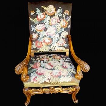 Sedia in stile Regency 19 secolo schiena piatta