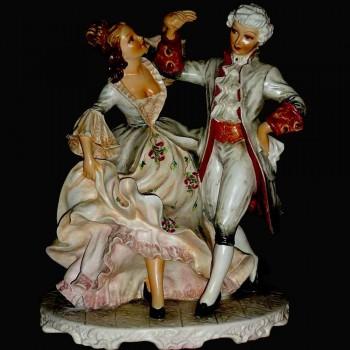 Porcellana capodimonte italiano (egli minuetto) del XIX secolo