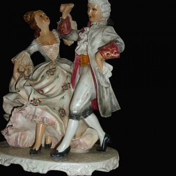 porselein Italiaanse capodimonte (hij Menuetto) 19e eeuw