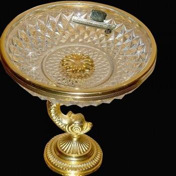 Coppa su piedistallo cristallo Val Saint Lambert