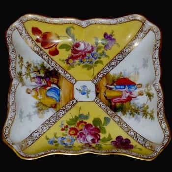 cut square signed nineteenth century Meissen porcelain