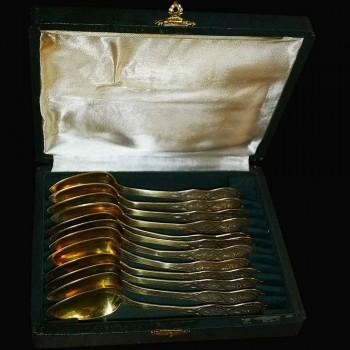 cucharas de plata Vermeil tres Napoleon