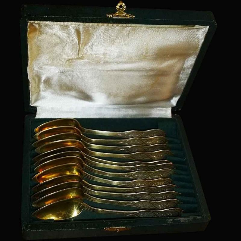 cuilleres en argent vermeil napoleon trois