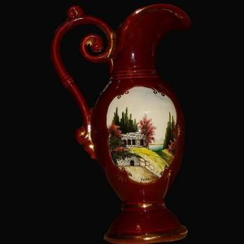 Brocca in porcellana vaso Belgio del XIX secolo