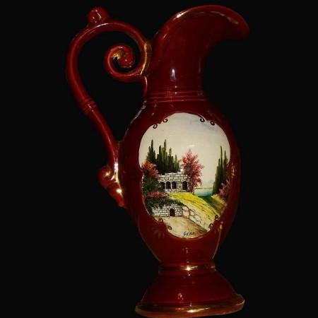 Vaas Belgie 19e eeuw porselein kruik