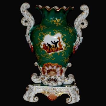 Paris 19 th J.P. porcelain vase