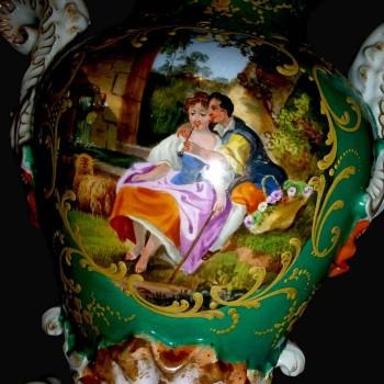 Vaso in porcellana di Parigi 19 th J.P.