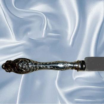 Abdeckung-Messer in Altsilber