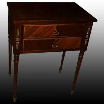 Console napoleon en acajou et placage