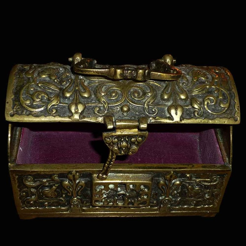 Ormolu decorated Gothic style of arabesque box