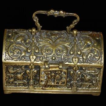 Bronce dorado decorado gotico de caja arabesque
