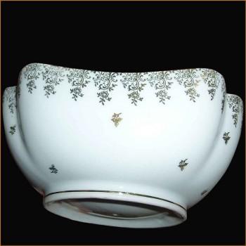 Plat en porcelaine de Limoges avec incrustation or double dorure