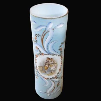 Opaline vase 19 eme century