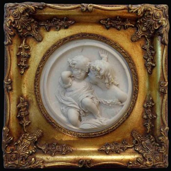 medallion of marble in high relief