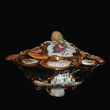 Elegant tureen and its display in