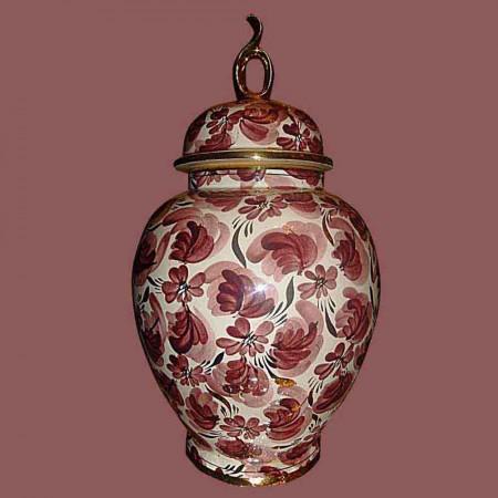 Porselein-aardewerk gedekt vaas, vaas Hubert Beattie Quaregnon