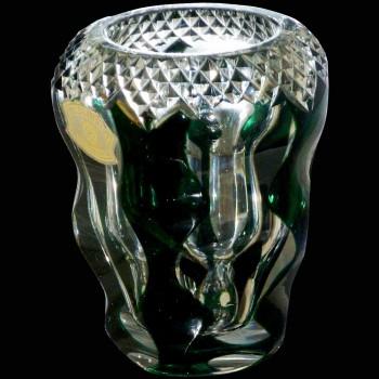 Val Saint Lambert firmo kristallen vaas ondertekend Val Saint Lambert