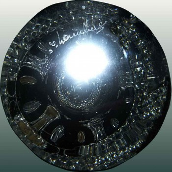 Val Saint Lambert           signe-kristallen vaas Val Saint Lambert ondertekend