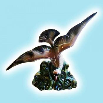 Porcellana-faience H. Beattie-piccione raffinata terracotta policroma