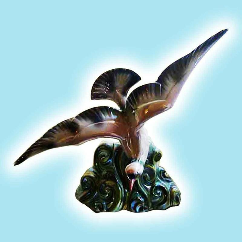 Porselein-faience H. Beattie-duif fijne Polychroom aardewerk